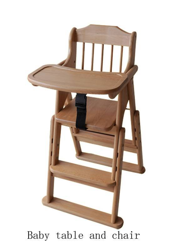 Wooden baby table and chair