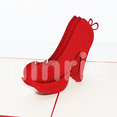 High heel Pop Up Card Handmade Greeting Card