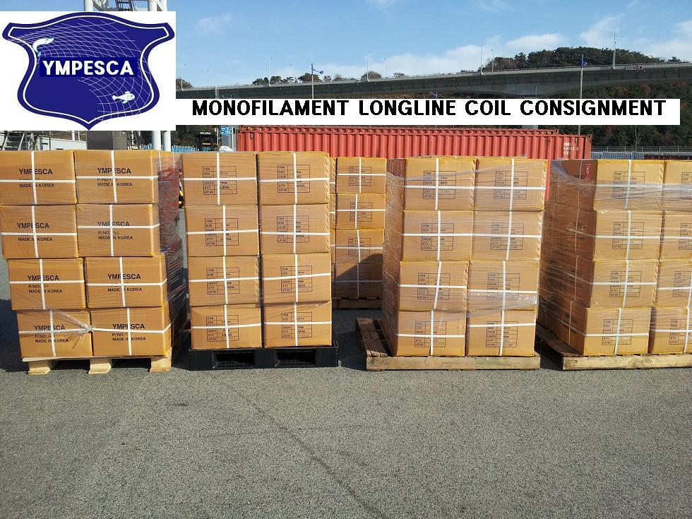 Monofilament longline coil product