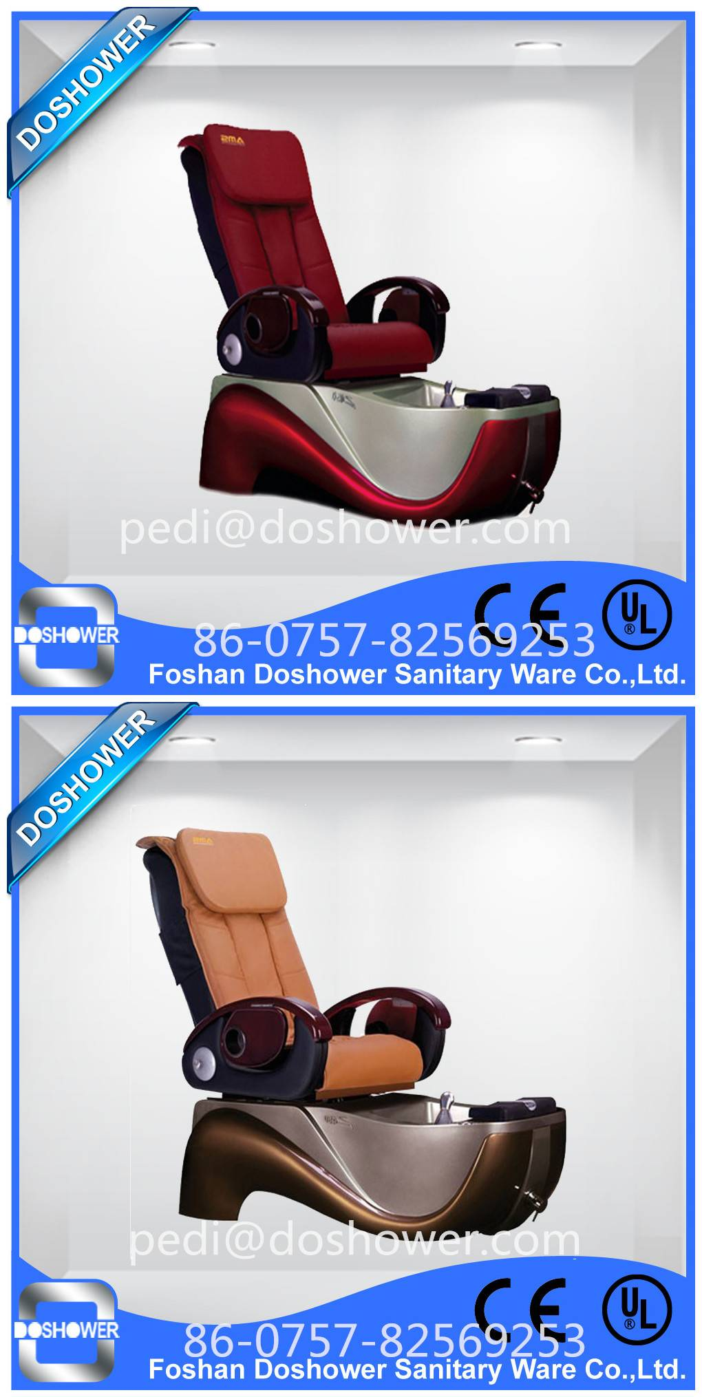 Doshower DS-8135 luxury pedicure spa massage chair for nail salon of spa pedicure chair / bench / st