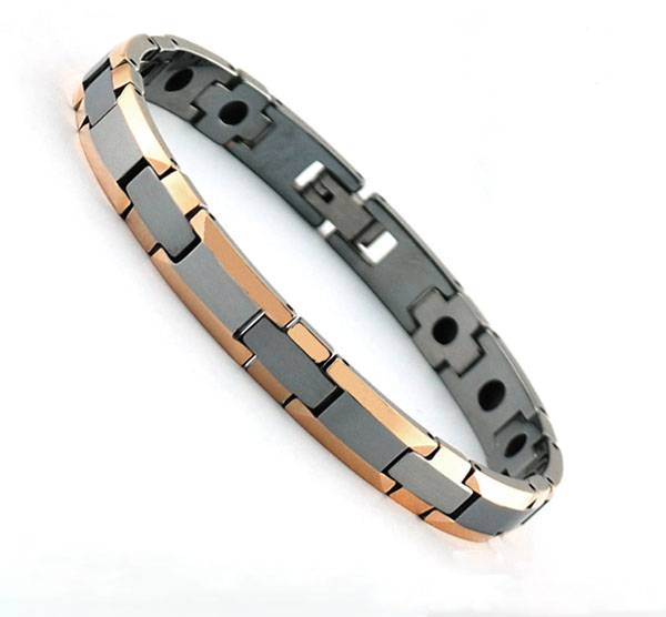 2016 latest new design 18k tungsten bio magnetic bracelet medical chain bracelet