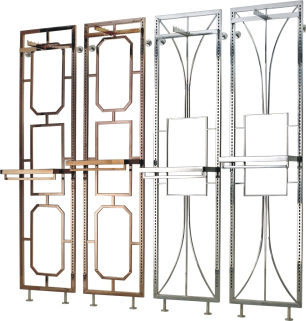 Cloth Store Wall Unit Stainless Steel Wall Display Shelf
