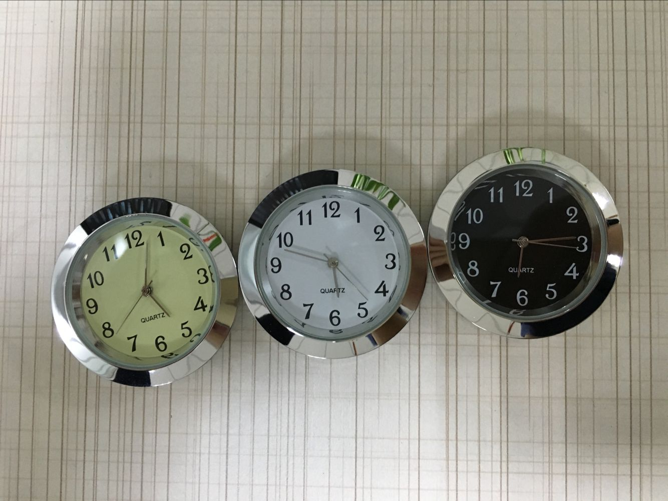 37mm mini insert clock silver clock fitups