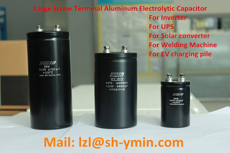 EW3 UPS Large Screw Terminal Type Aluminum electrolytic capacitor Bolt type from Shanghai Yongming