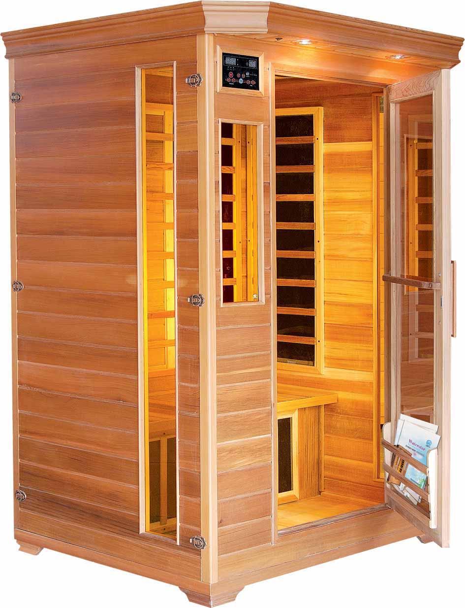 modern design wood steam room