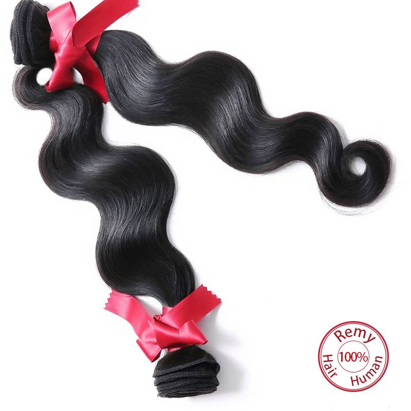EVET Brazilian Body Wave Hair Weaves Top Grade Virgin Human Hair Extensions #1B Hair Products Brazil