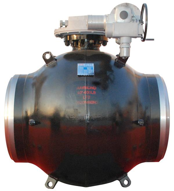 Single welding joint full welded ball valve