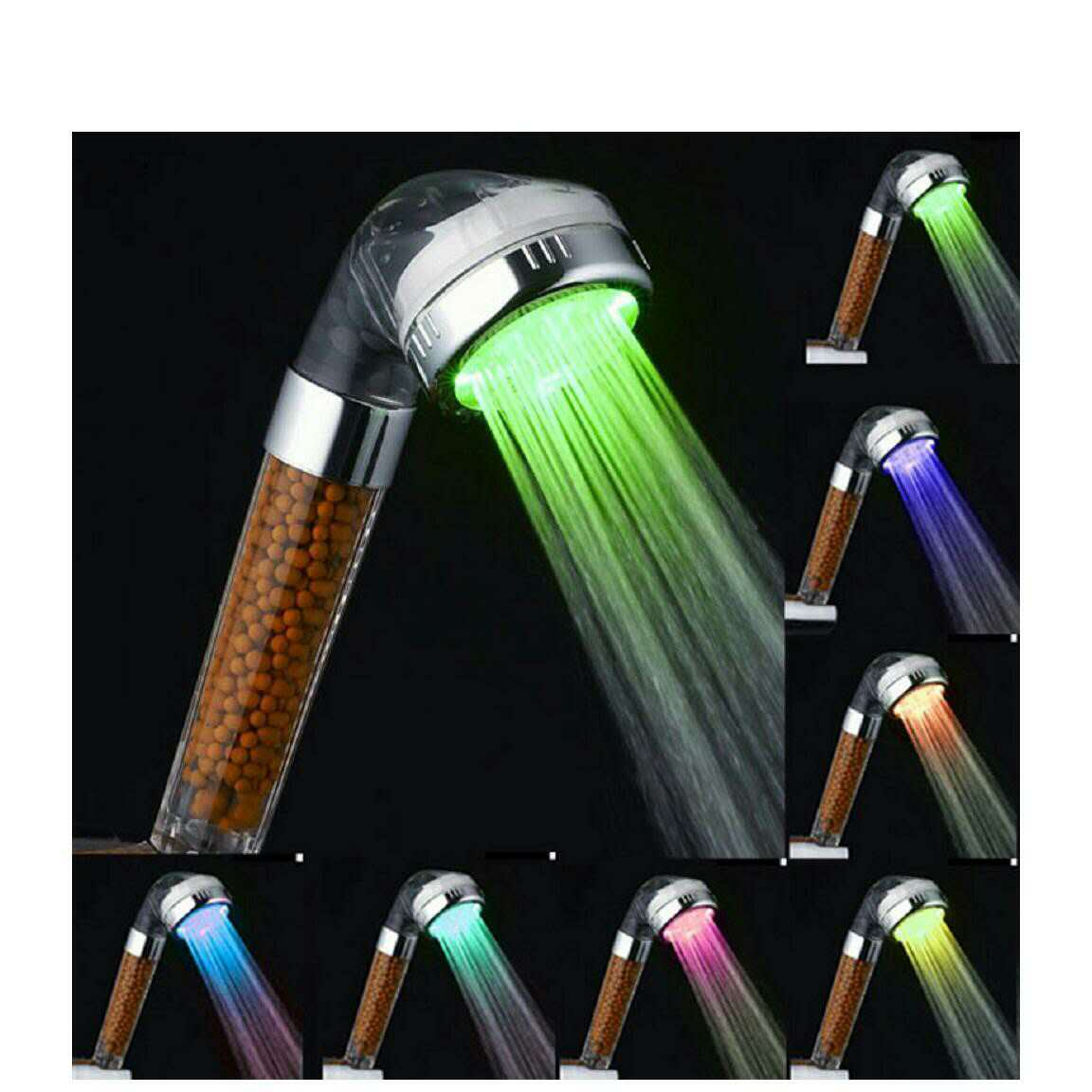 LED Shower Head Negative Ion Healthy Shower Head