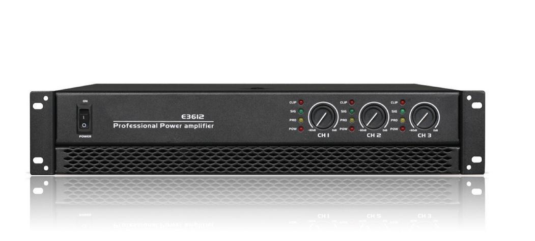E3 series power amplifiers E-3408/E-3510/E-3612