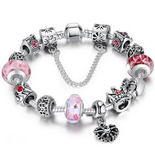 2016 European DIY 925 Sterling Silver Bracelet with Charms