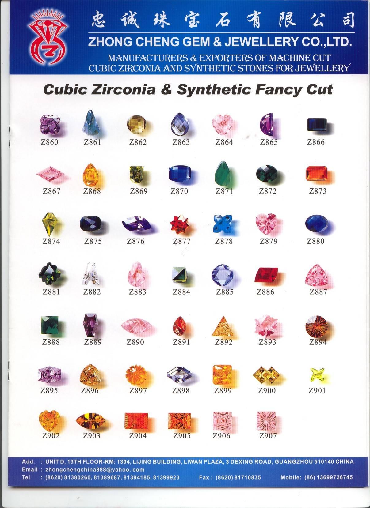Cubic Zirconia, Synthetic