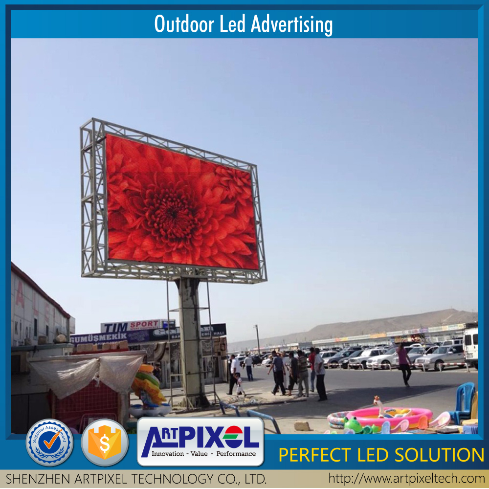 HD full color tube chip color advertising display function P10 led display