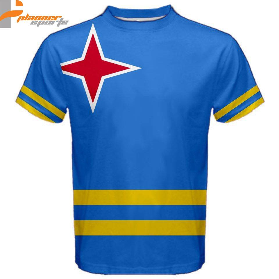 Aruba Flag Sublimated Sublimation T-Shirt S,M,L,XL,2XL,3XL