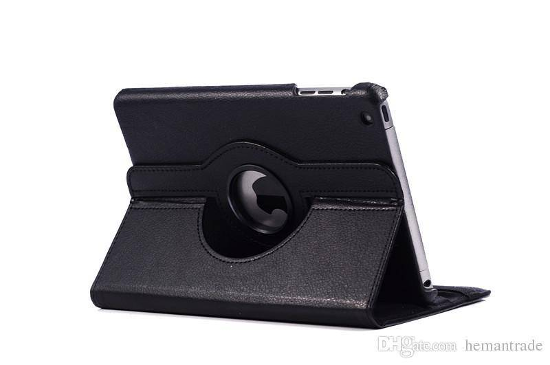 For Ipad 4 3 2 5 Air Mini 360 Degree Rotating Rotary PU Leather Case Smart Cover Case Stand For IPad