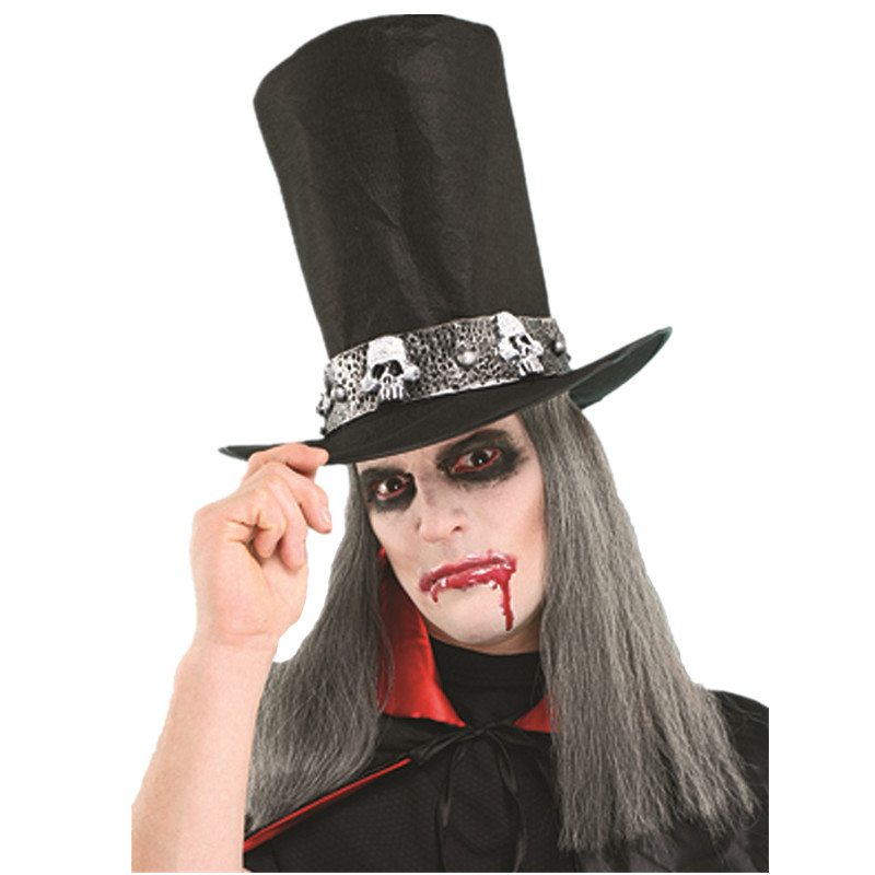 X-MERRY TOY New Design Halloween Cosplay Party Hats Horror Vampire With a wig Gentlemen Hats For Ad