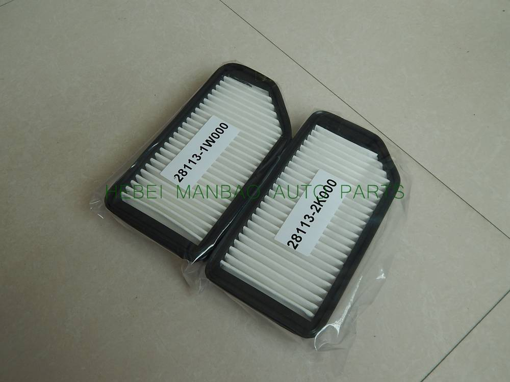 Customize  air filter  OE number (28113-1W000 ) for Hyundai cars
