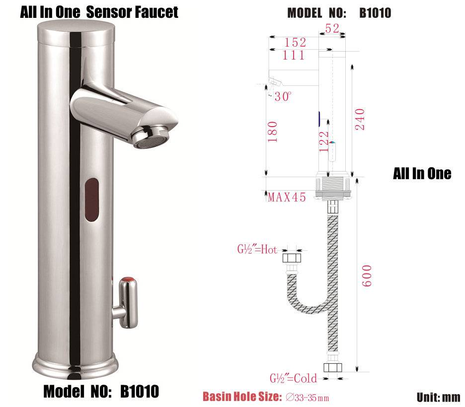 automatic sensor taps faucet model :B1010