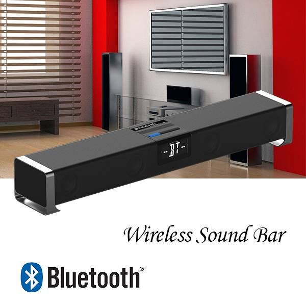 Factory OEM Home theater wireless soundbar 80W with Built-in Subwoofer