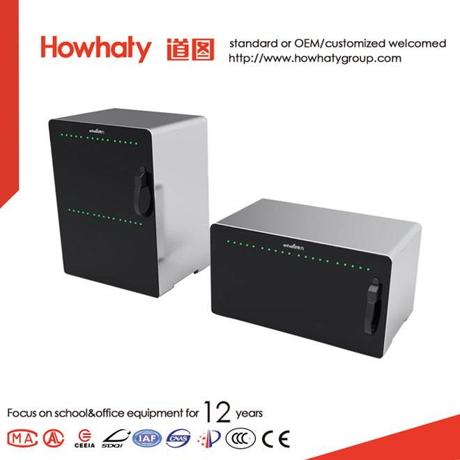 Hot sale tablet pc ipad charging cabinet with oval handrails