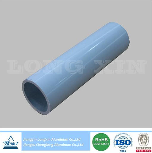 white powder coating aluminium round pipe