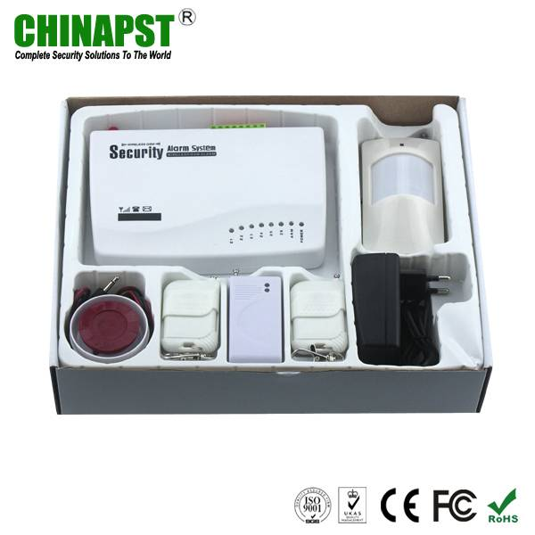 Russian / Spanish Voice Gsm Intelligent Alarm System with 6 wireless zone & alarm system