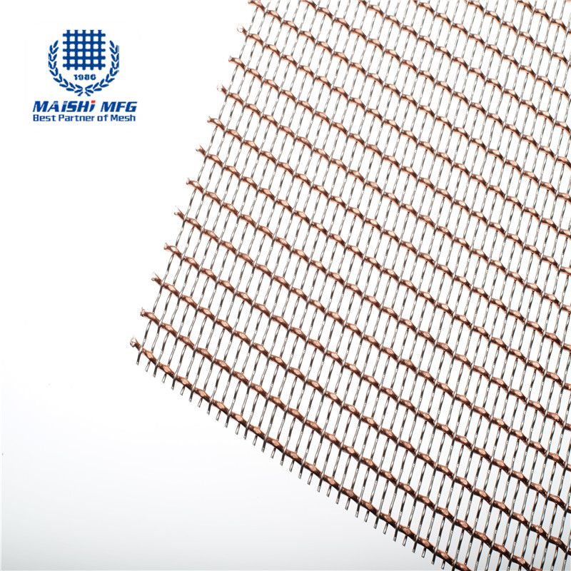 Mixed weaving stainless steel and copper decoration screen