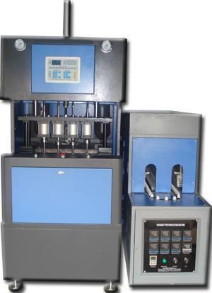 4 cavity semi automatic blowing molding machine