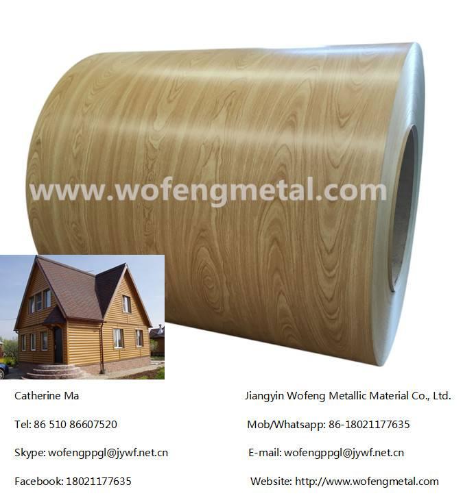 Colour coating galvanized wood paint color steel / prepainted ppgi coil
