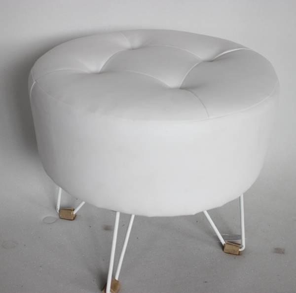 PVC round ottoman