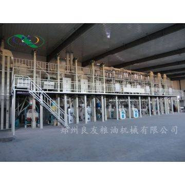Complete machine for maize meal production process