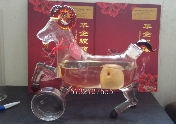 High Clear Transparent Flint high heels sheep lamb shaped glass bottle
