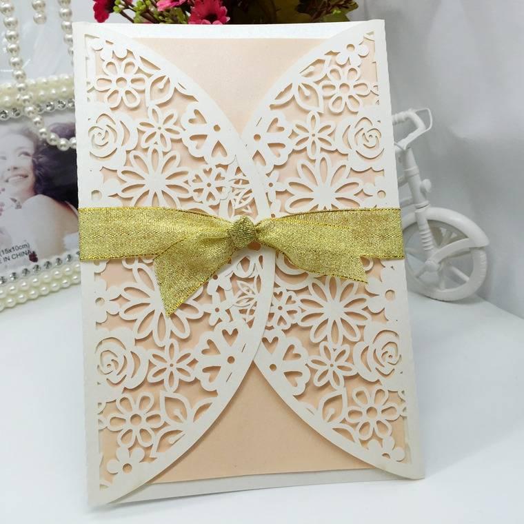 hollow pattern Wedding Invitation Card