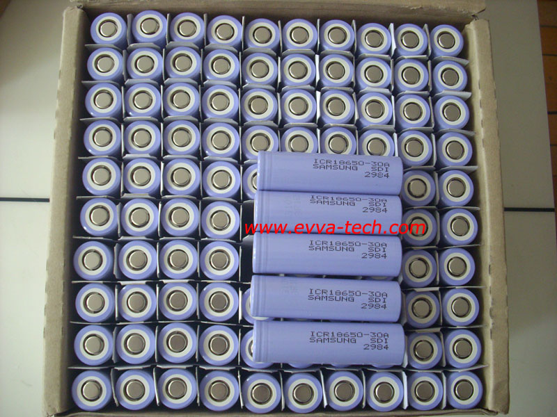 Lithium ion 18650 3000mAh battery cell Samsung ICR18650-30A 3000mAh