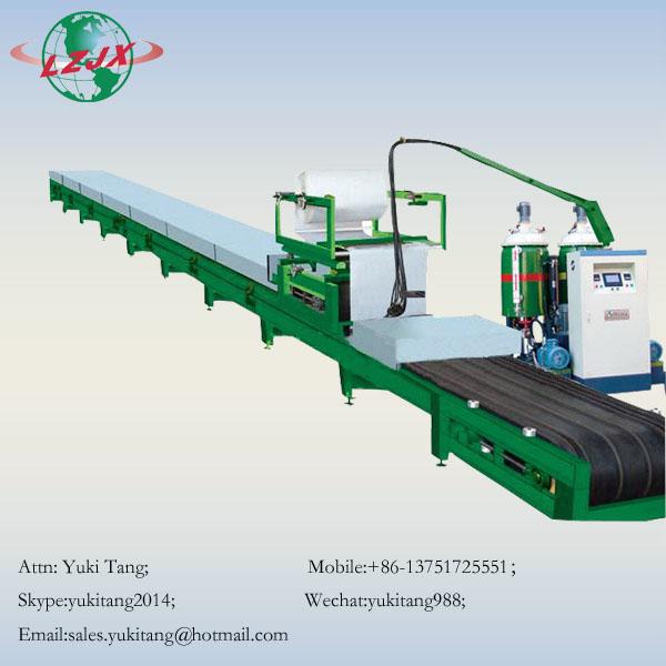 PU color steel tile sandwich panel foam continuous production line
