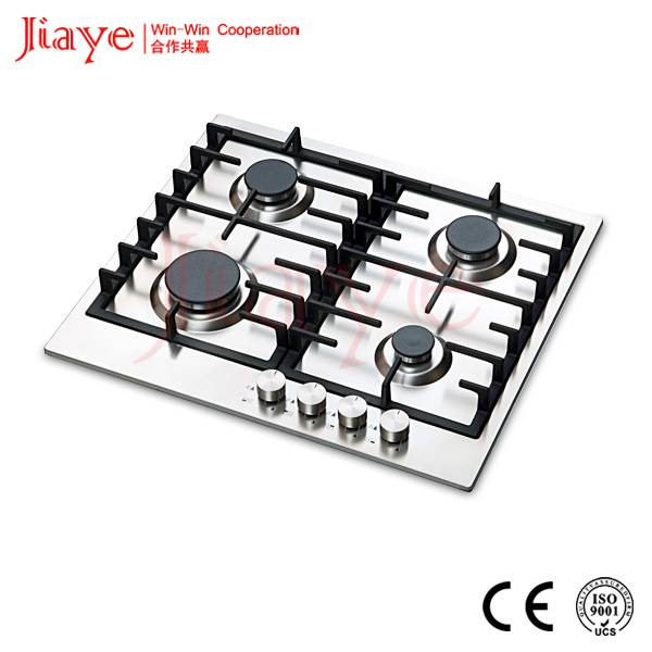 CE certification cast iron pan support infrared gas cooker 4 burner gas stove JY-S4036