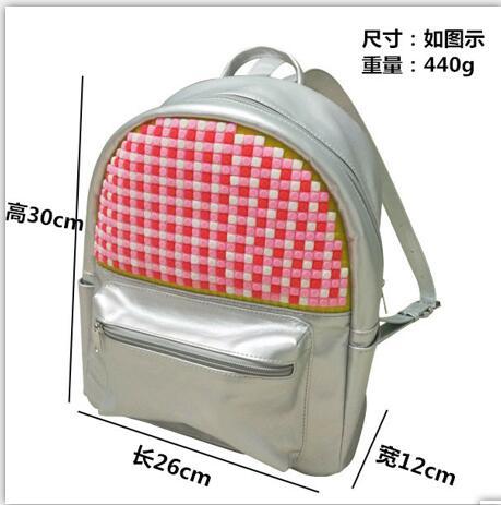 cool panel pixels kid backpack school bags diy bags