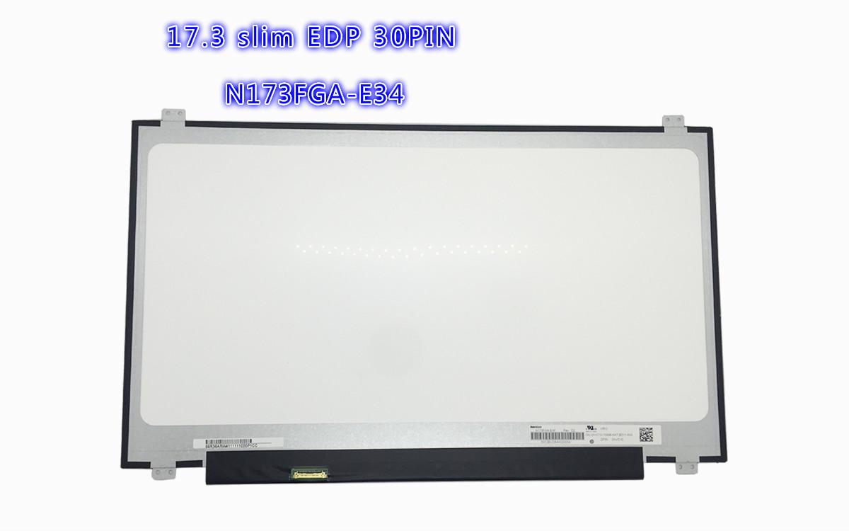 17.3 SLIM LCD PANEL 30PIN EDP N173FGA-E34 B173RTN02.0 NT173WDM-N21