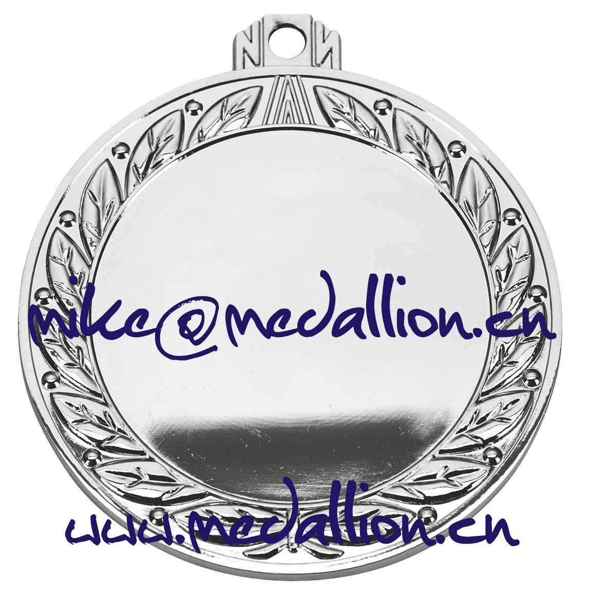 Shiny slver plated round blank medal