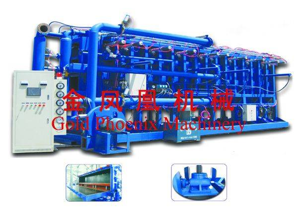 Air cooling block molding machine