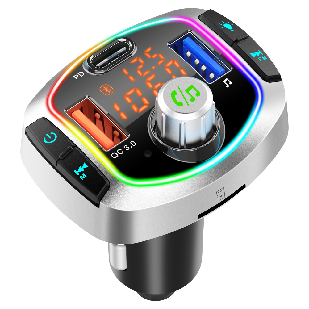 Bluetooth FM Transmitter Car MP3 player car charger with dual LED display