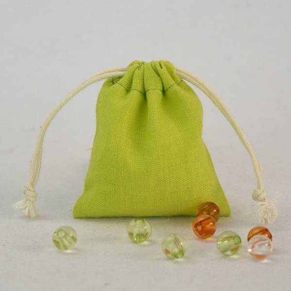 Cotton Jewelry Drawstring Pouch