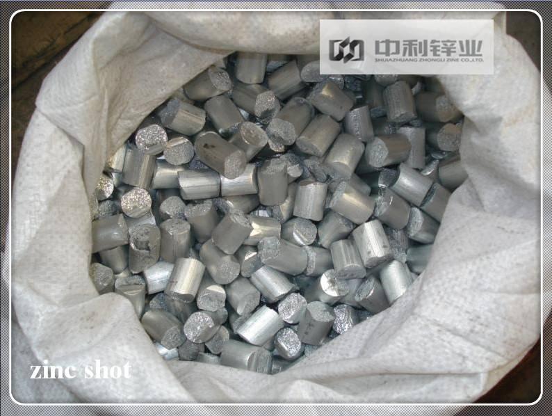 Cut wire zinc shot