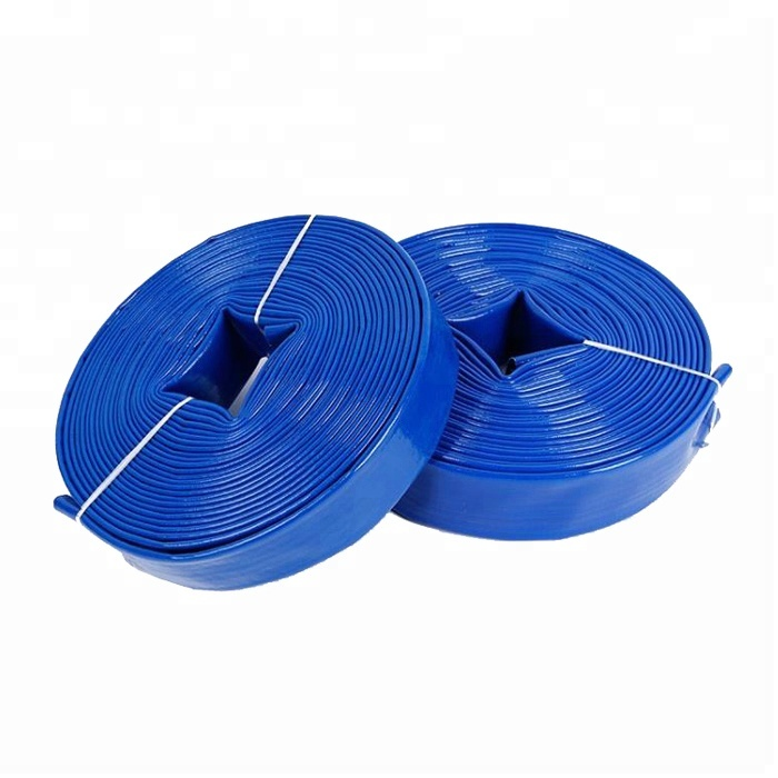 "3"" 6 inch flexible pvc layflat hose irrigation lay flat water pipe"