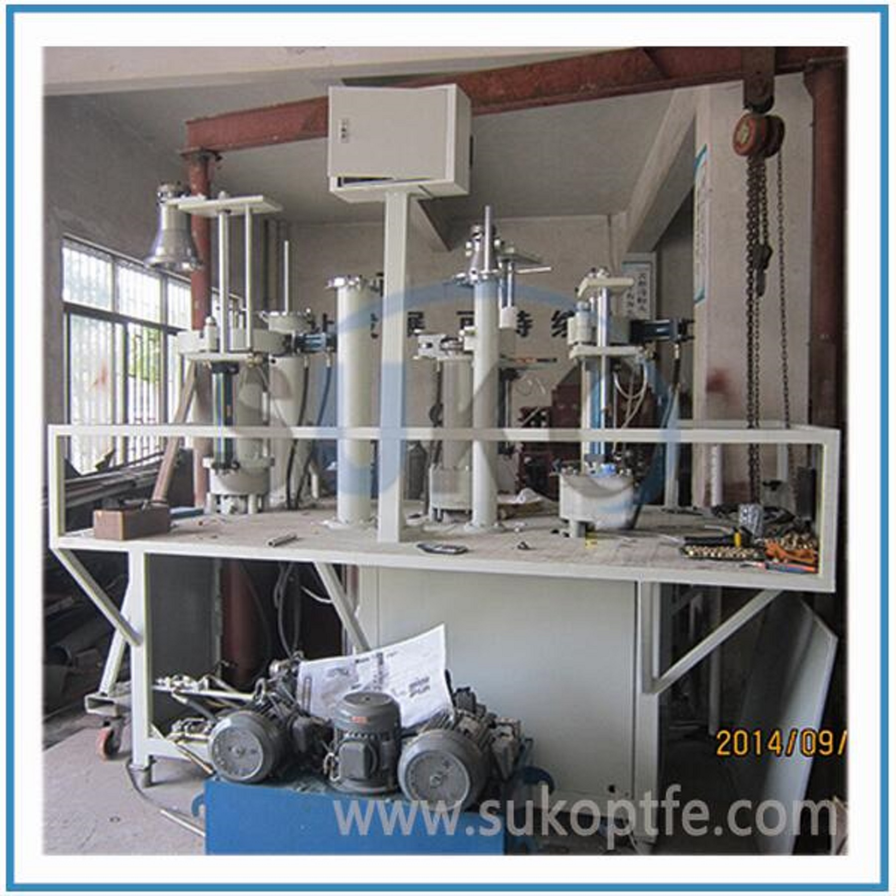Plastic PTFE Paste Extruder Machine