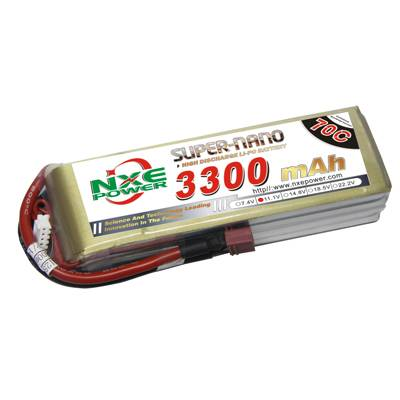 NXE3300mAh-70C-11.1V Softcase RC Helicopter Battery