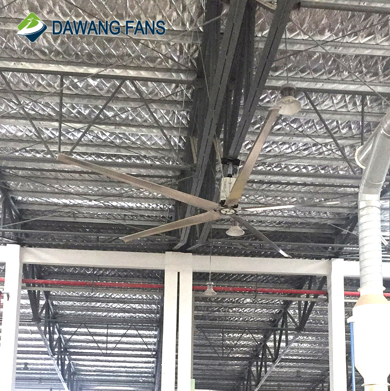 BLDC Low Noise Roof Mounted Hvls Big Industrial Ceiling Fans