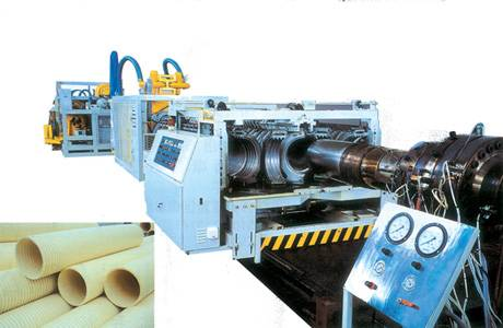 PVC (PE) double-wall corrugated pipe extrusion line
