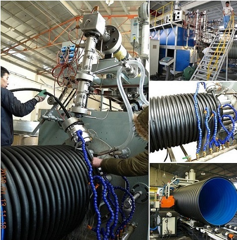 Huge Diameter Steel Reinforced Winding Pipe Production Line-HDPE Spiral Steel Pipe Extruder