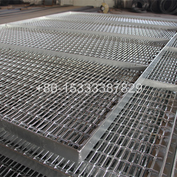 Crimped Wire Mesh for Feeding Pigs with Frame