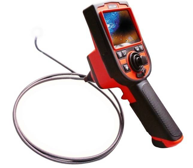 4ways articulation industrial video borescope  stainless steel cable testing equipment 4.5mm camera